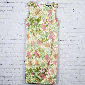 Brooks Brothers Sleeveless Floral Shift Dress 8